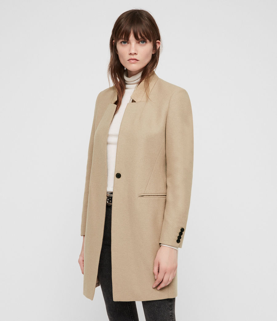 Women's Lyla Coat (light_tan_brown) - Image 4