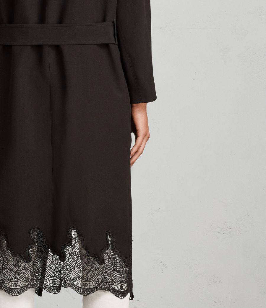 Women's Sandra Lace Mac (black) - Image 2