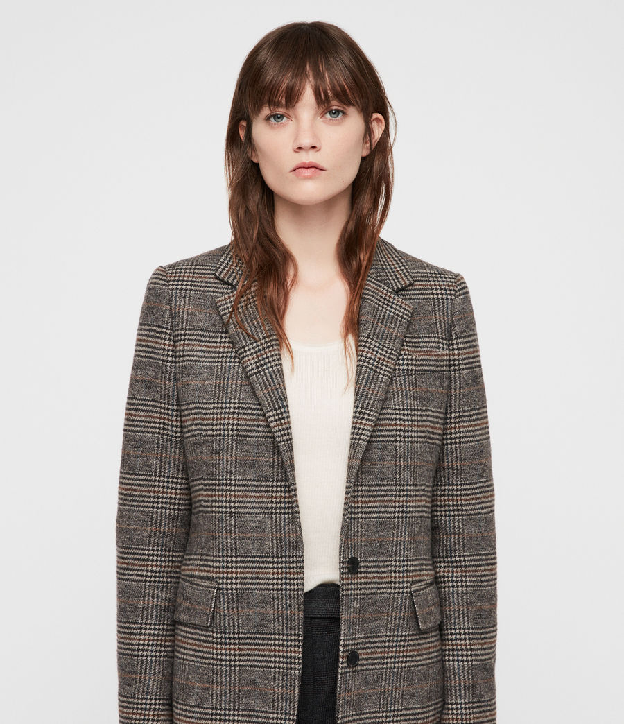 Donne Cappotto Indra Check (charcoal_grey) - Image 2