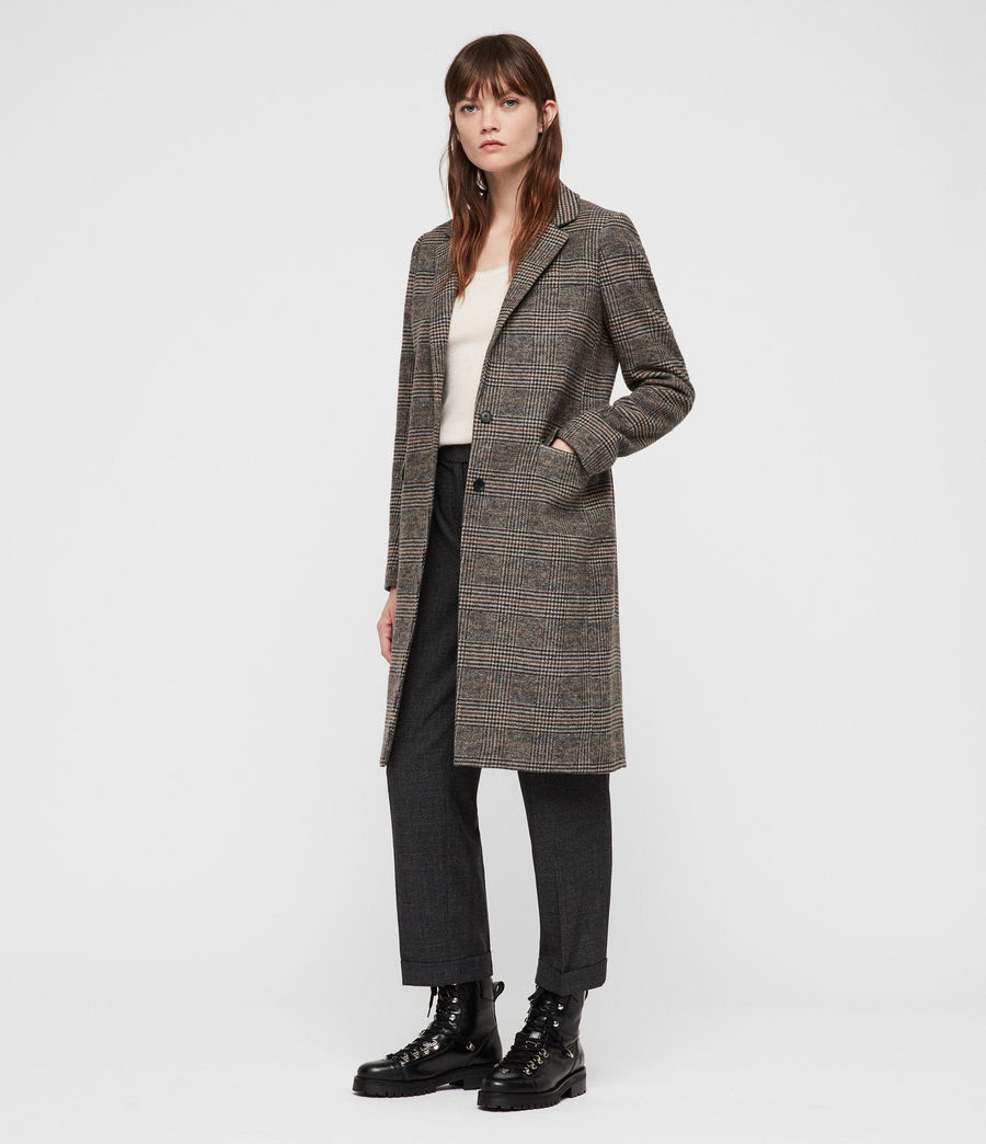 Donne Cappotto Indra Check (charcoal_grey) - Image 3