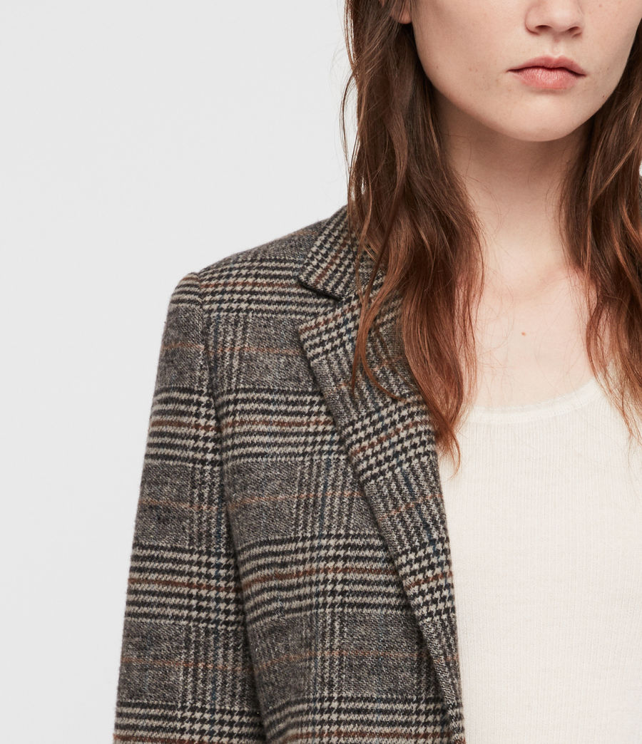 Donne Cappotto Indra Check (charcoal_grey) - Image 4