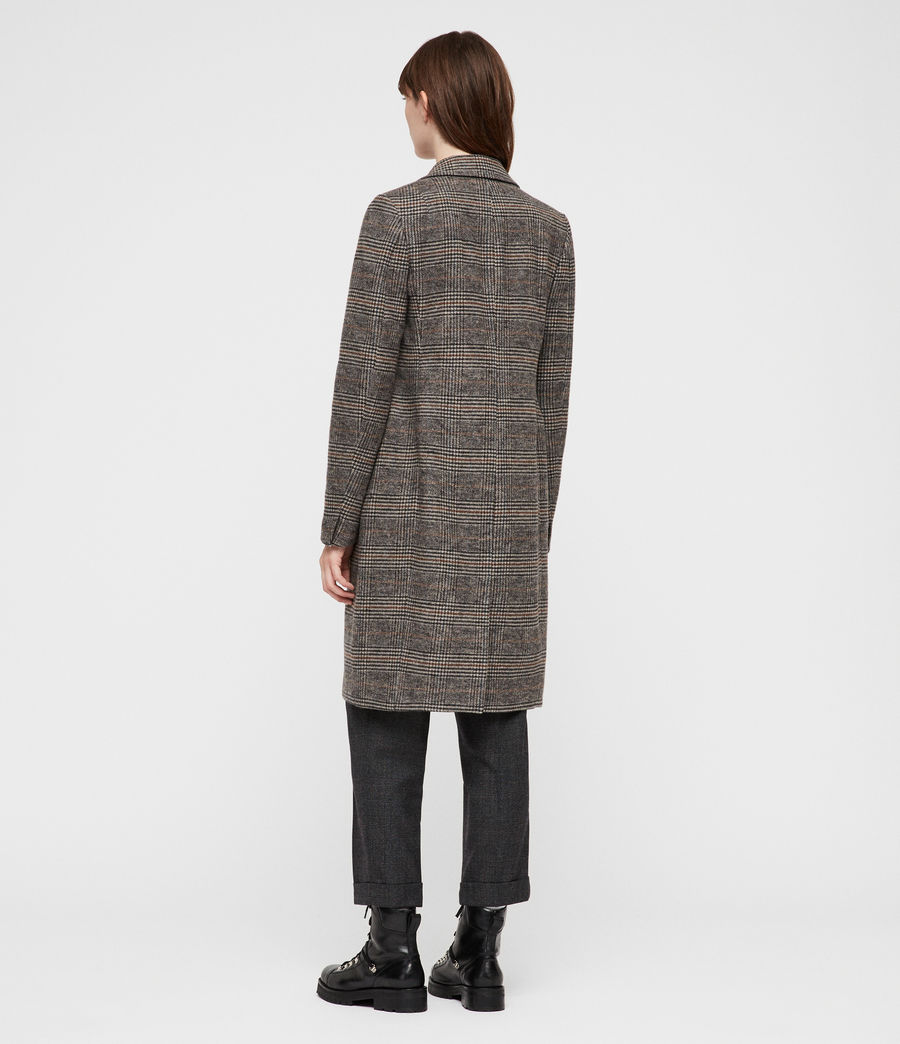 Donne Cappotto Indra Check (charcoal_grey) - Image 5