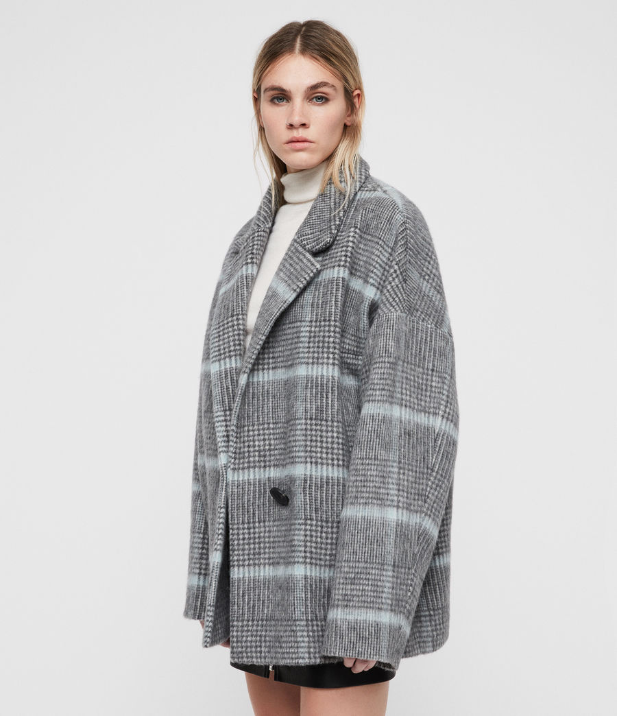 Donne Cappotto Simi (grey_aqua_blue) - Image 3