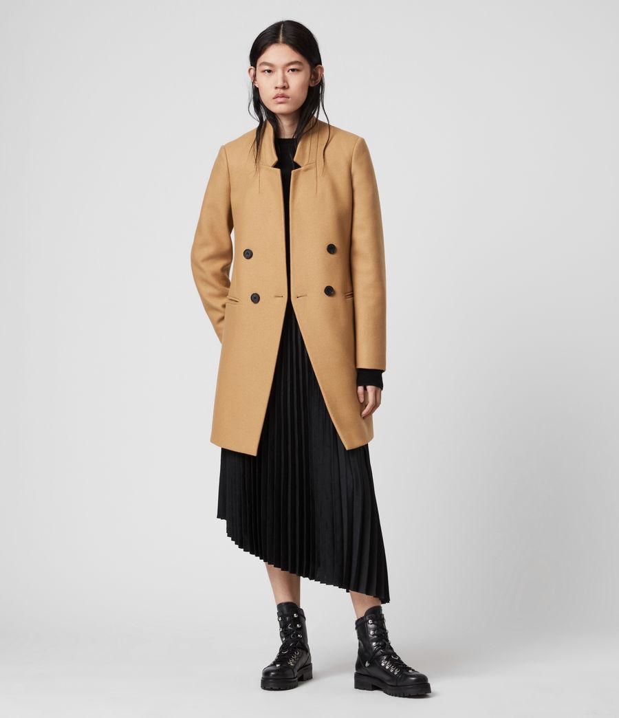 Womens Adrea Cashmere Blend Coat (black) - Image 1
