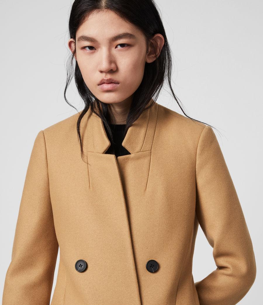 Women's Adrea Cashmere Blend Coat (camel_brown) - Image 1