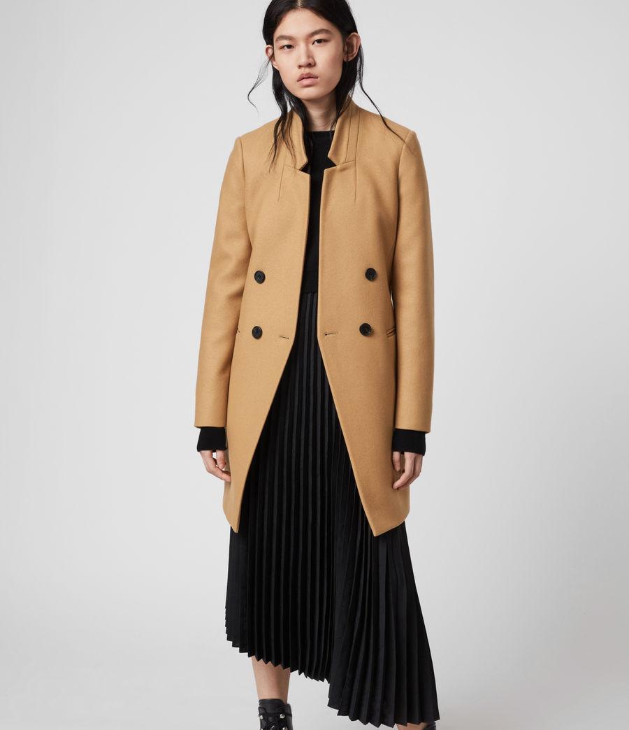 Women's Adrea Cashmere Blend Coat (camel_brown) - Image 2