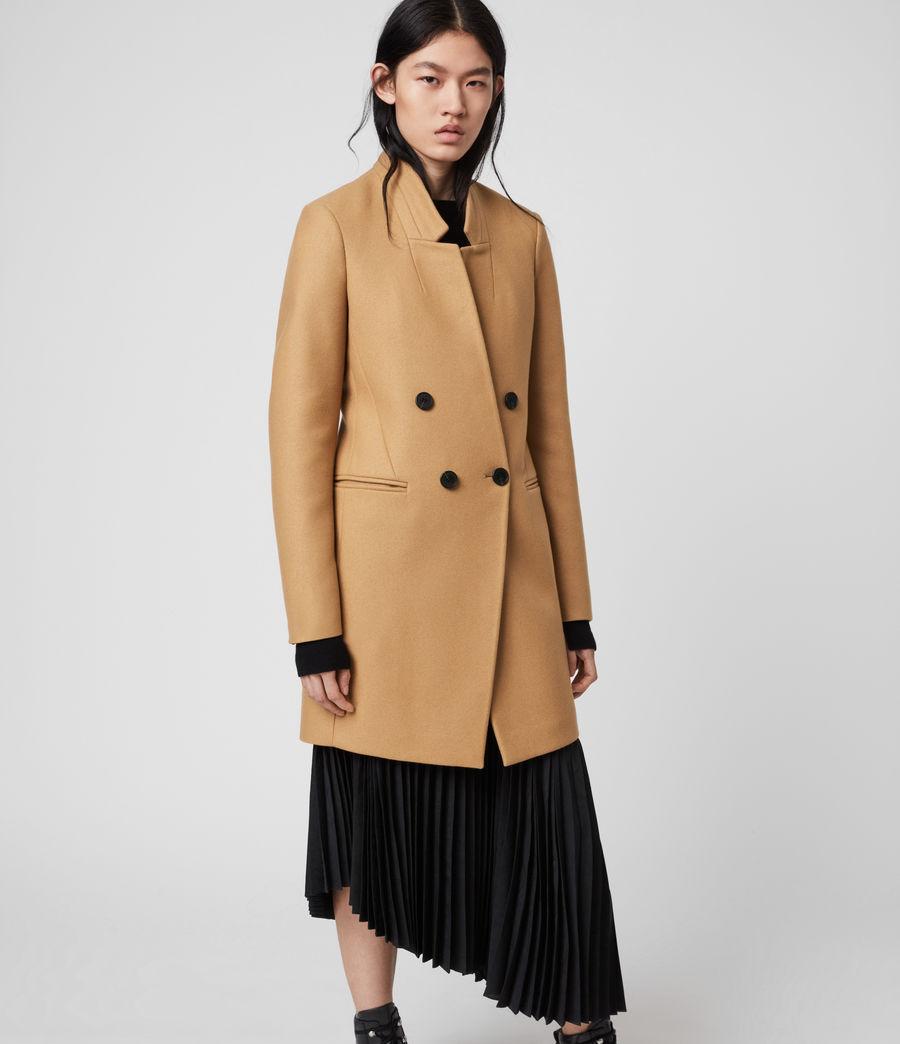 Women's Adrea Cashmere Blend Coat (camel_brown) - Image 3