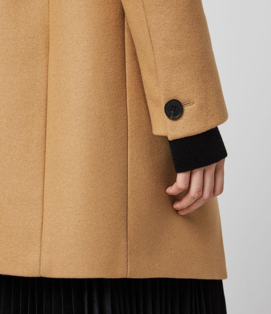 Women's Adrea Cashmere Blend Coat (camel_brown) - Image 4