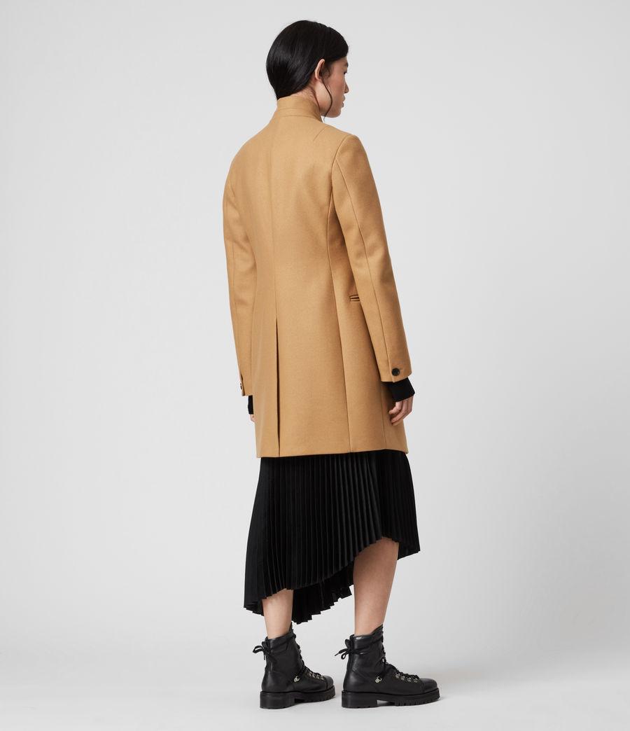 Women's Adrea Cashmere Blend Coat (camel_brown) - Image 5