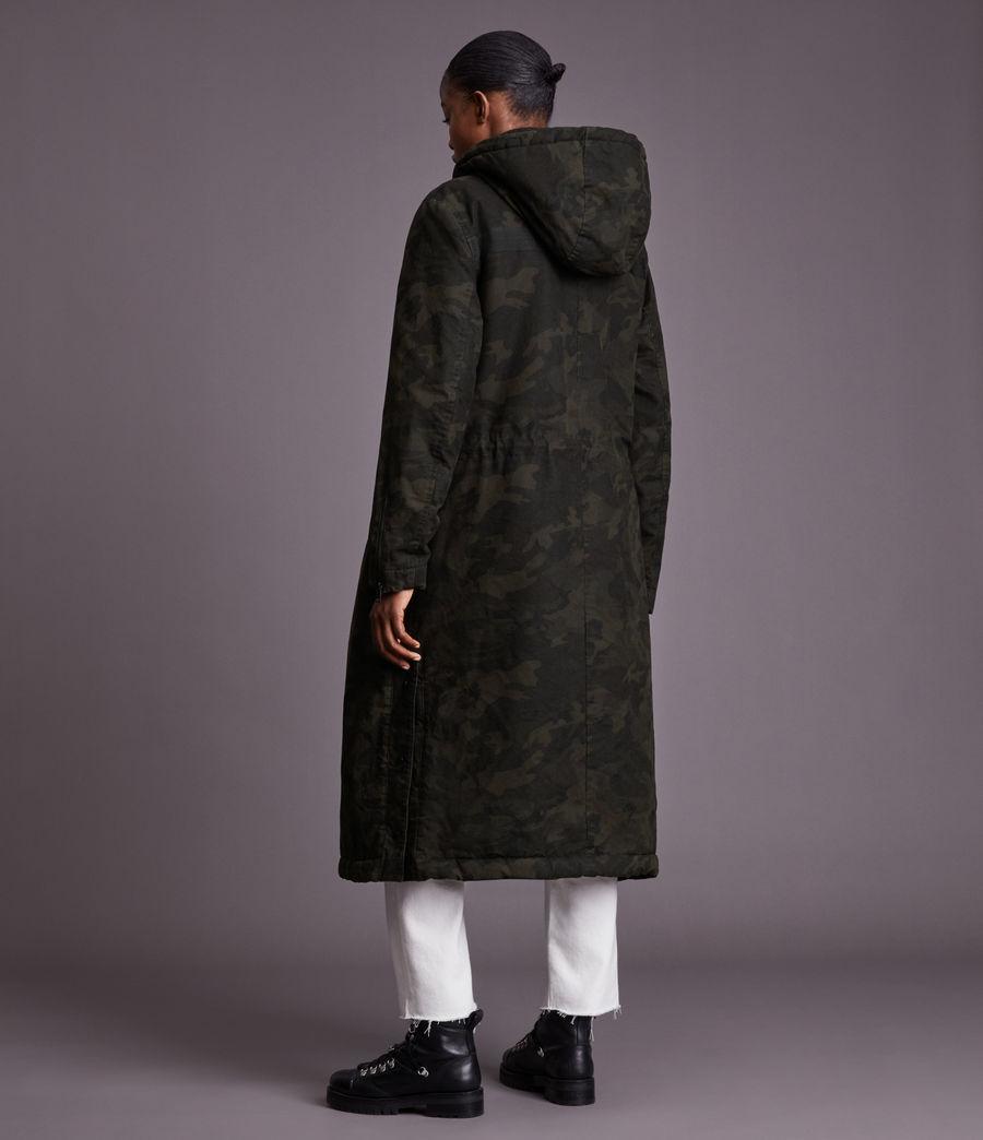 Women's Indra Camo Parka Coat (black) - Image 6