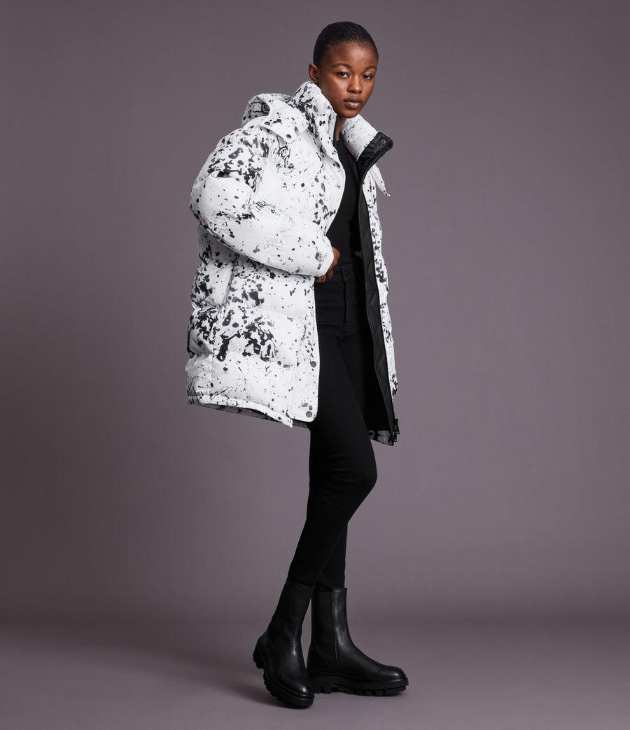 Damen Pember Puffer Coat (black_white) - Image 1