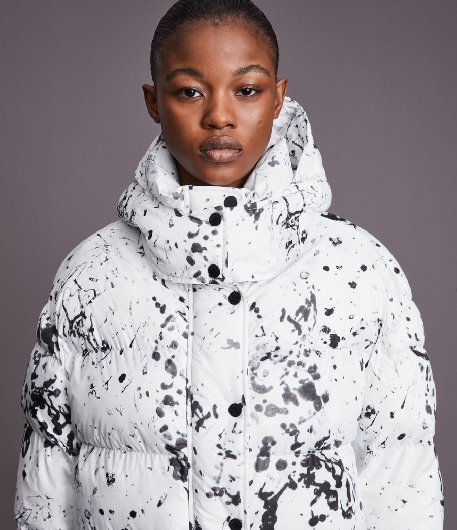 Damen Pember Puffer Coat (black_white) - Image 3