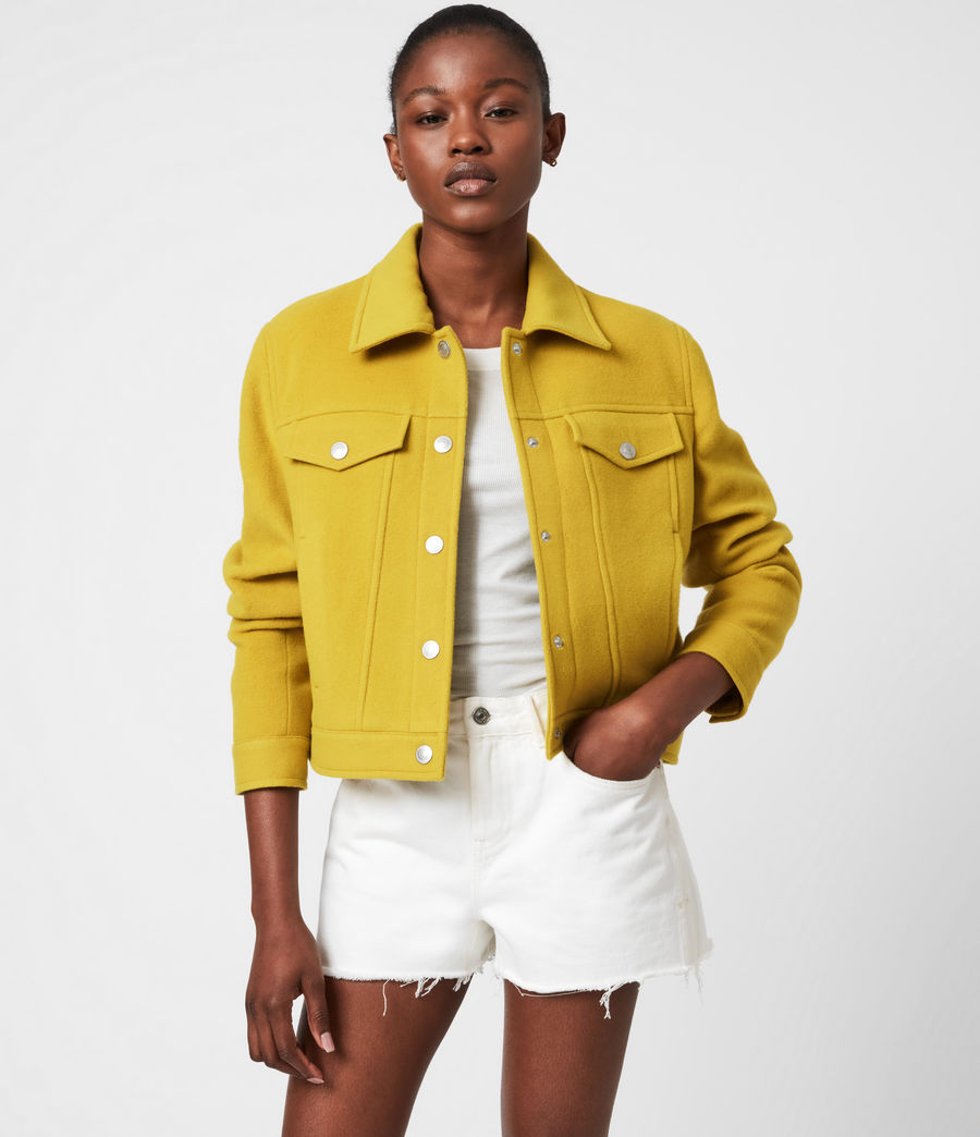 Women's Acey Jacket (chartreuse_green) - Image 1