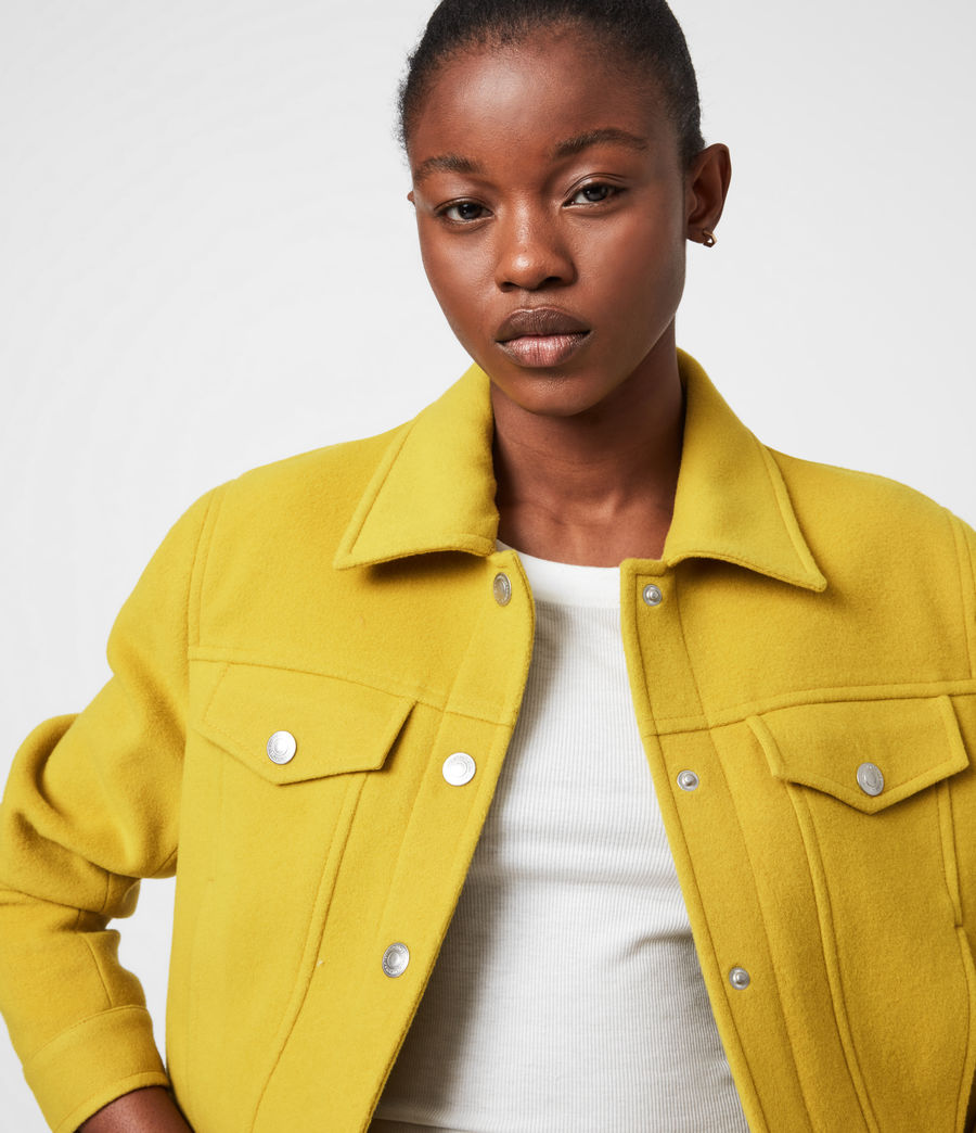 Women's Acey Jacket (chartreuse_green) - Image 4