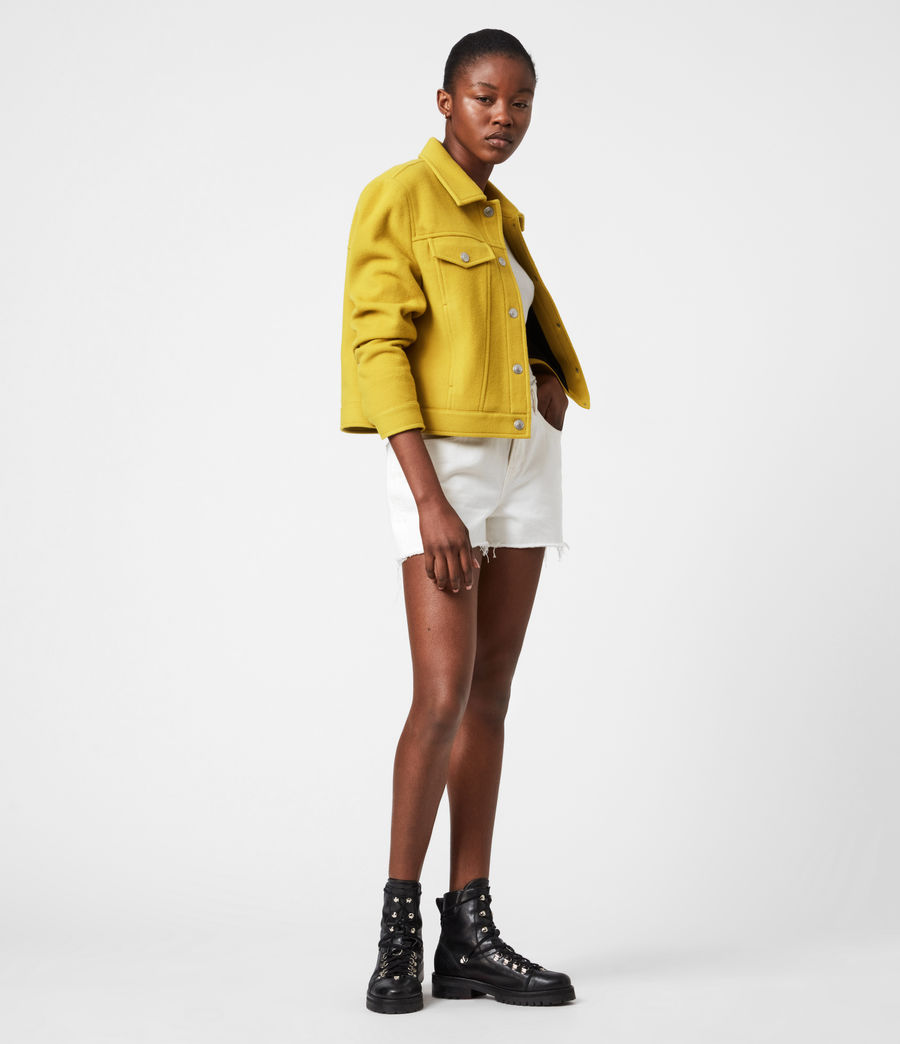 Women's Acey Jacket (chartreuse_green) - Image 6