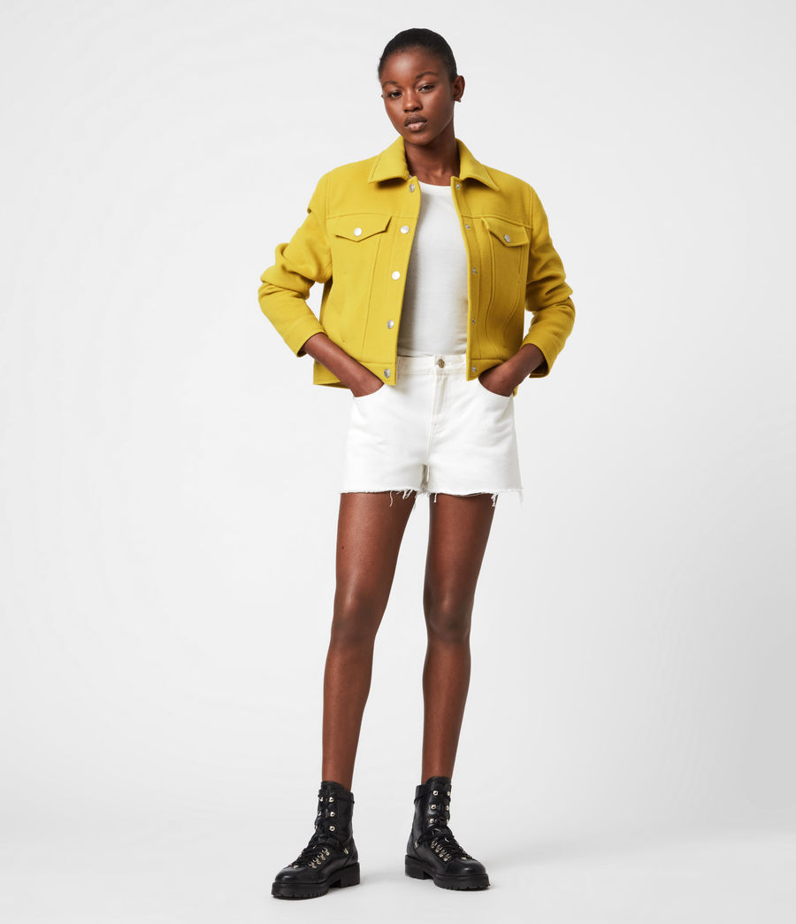 Women's Acey Jacket (chartreuse_green) - Image 7