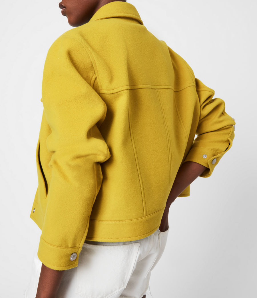 Women's Acey Jacket (chartreuse_green) - Image 8