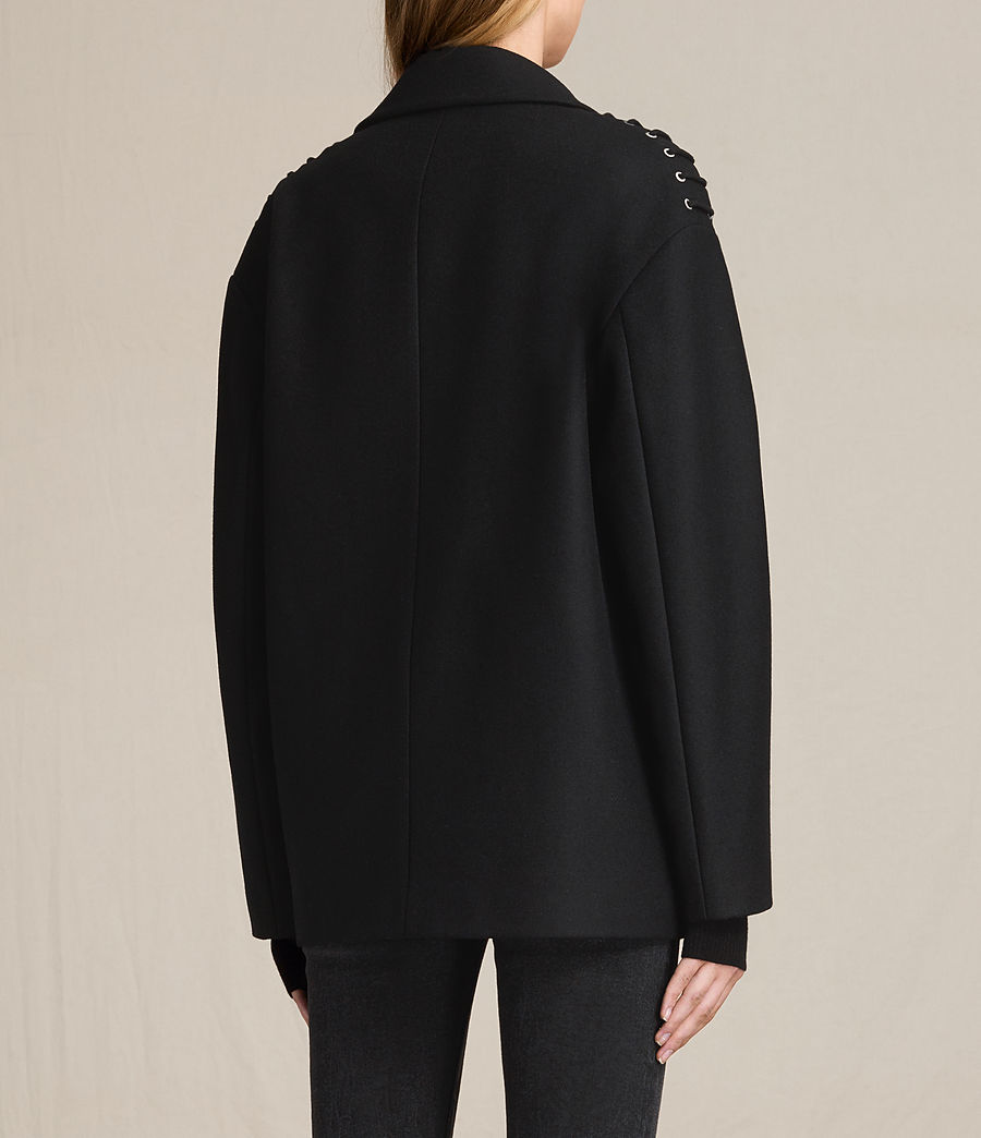 Damen Ada Laced Kurzmantel (black) - Image 5