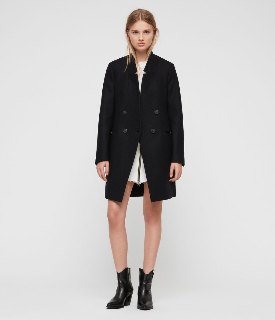 Womens Adrea Coat (ink_blue) - Image 1