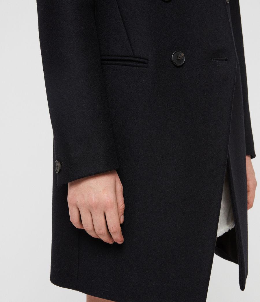 Womens Adrea Coat (ink_blue) - Image 5