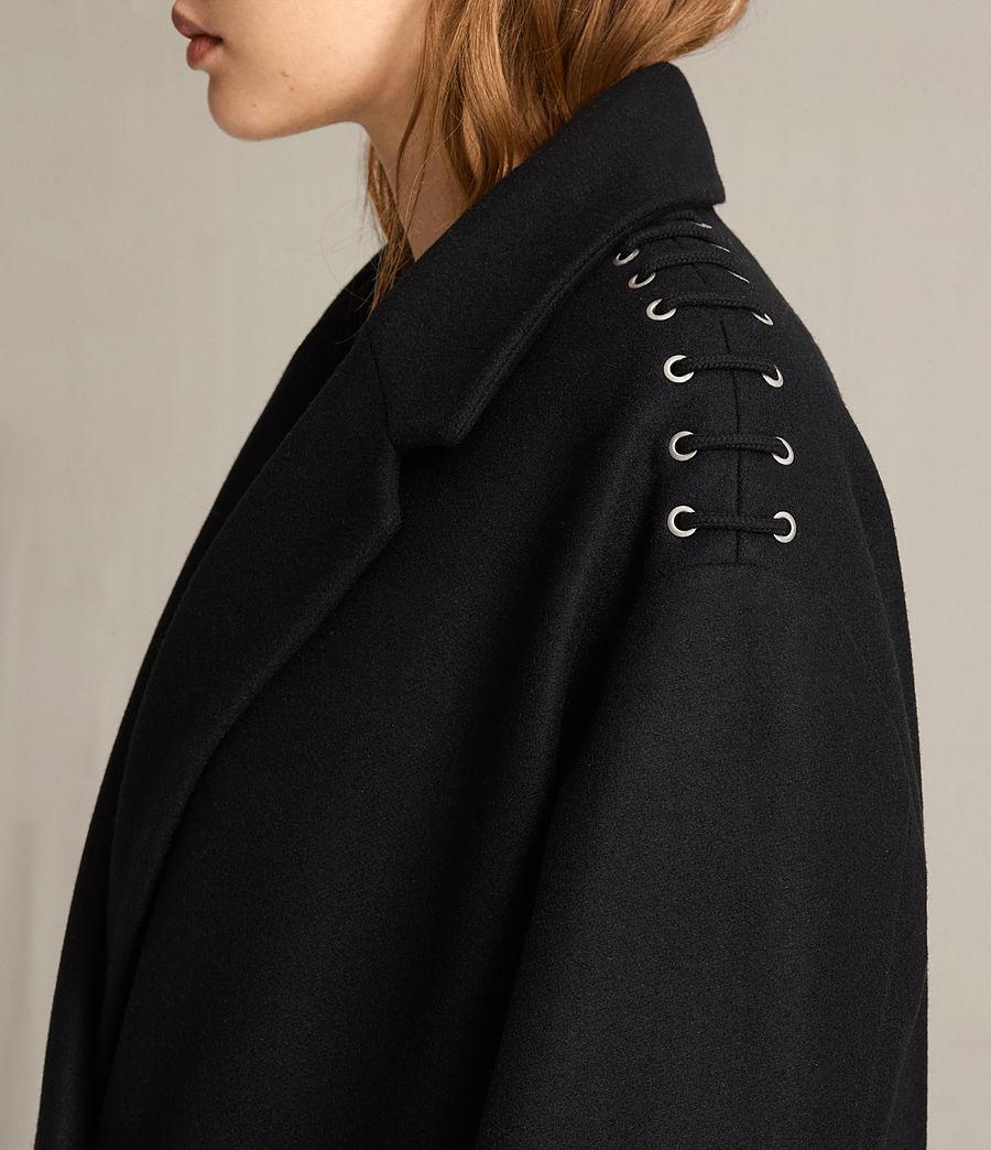 Mujer Abrigo con lazos Ada (black) - Image 2