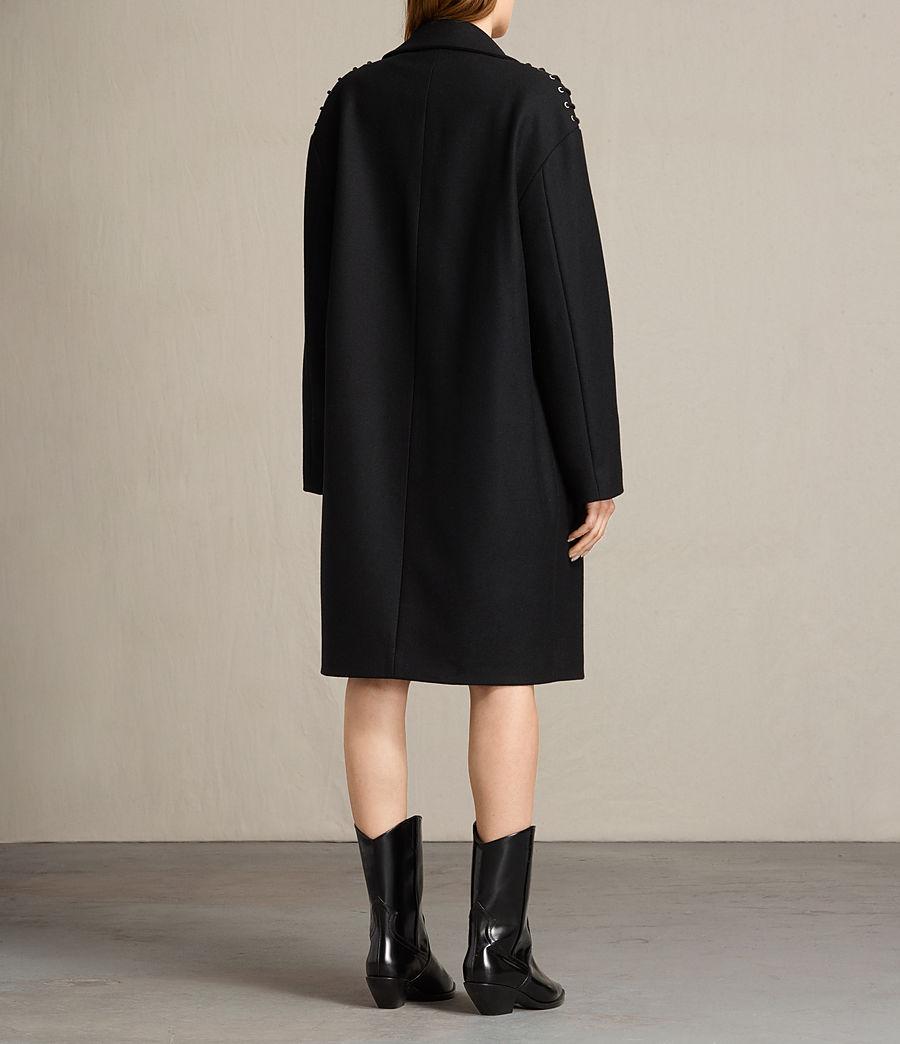 Mujer Abrigo con lazos Ada (black) - Image 6