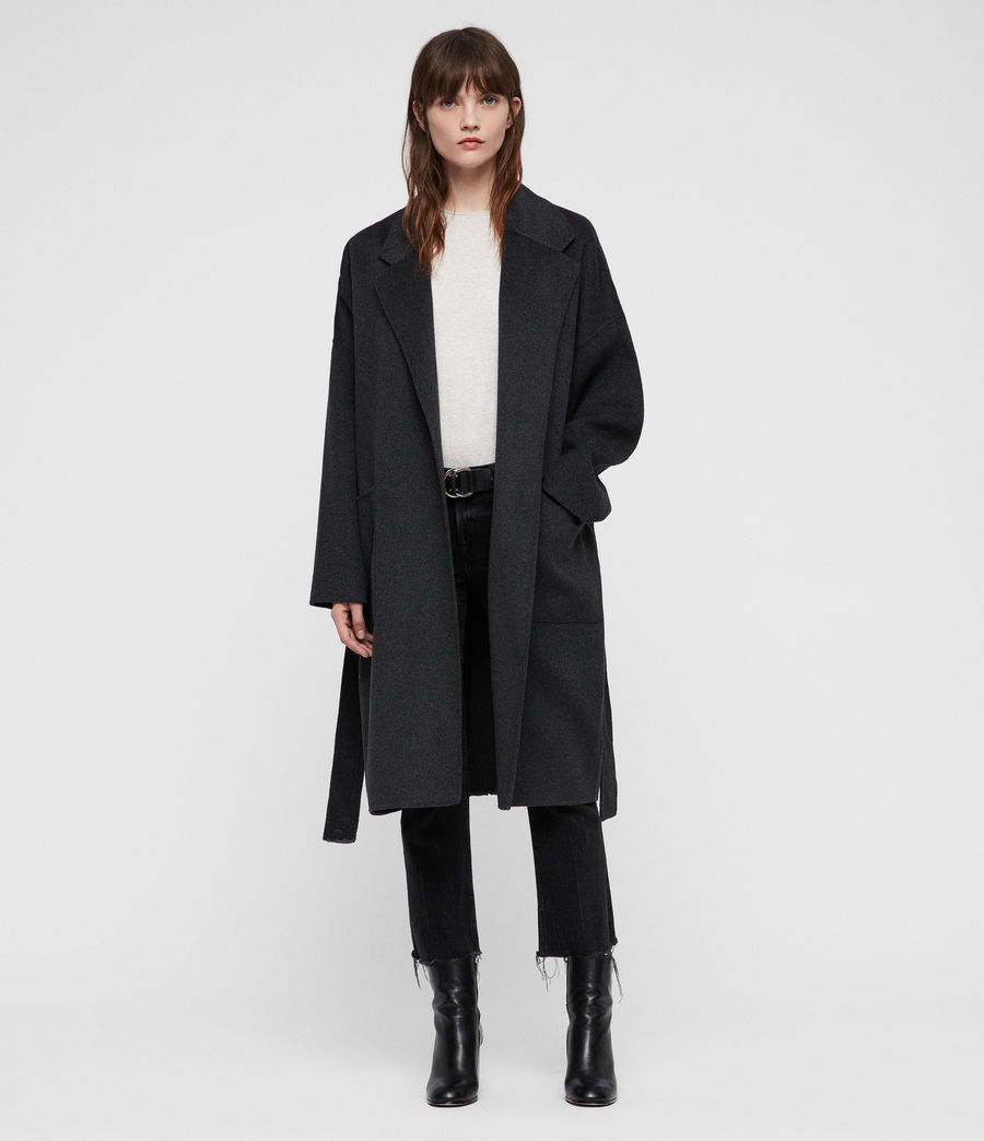 Women's Lara Coat (charcoal_grey) - Image 1