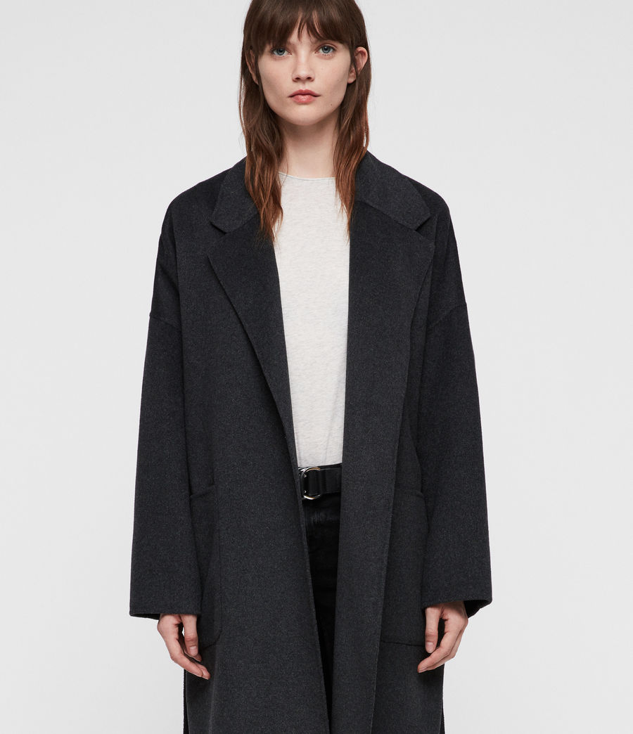 Women's Lara Coat (charcoal_grey) - Image 3