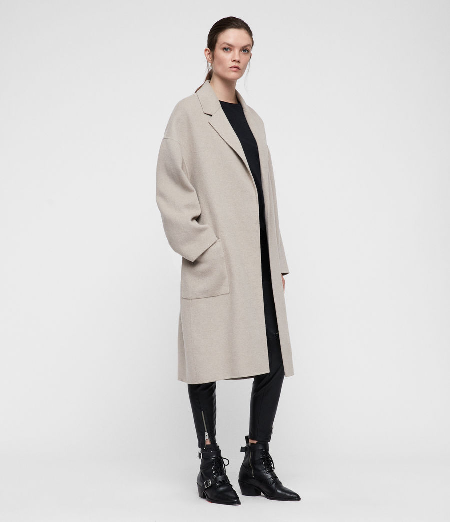 Women's Lara Coat (oatmeal_brown) - Image 1