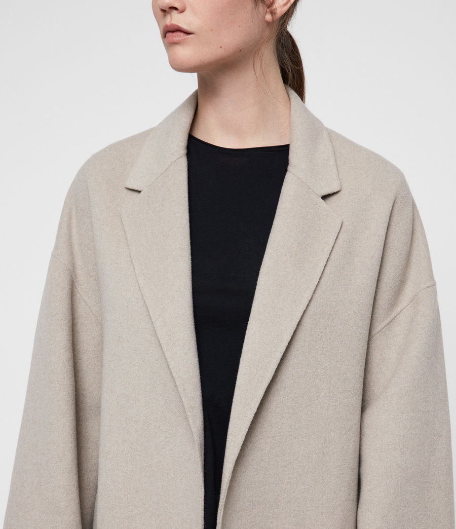 Women's Lara Coat (oatmeal_brown) - Image 2