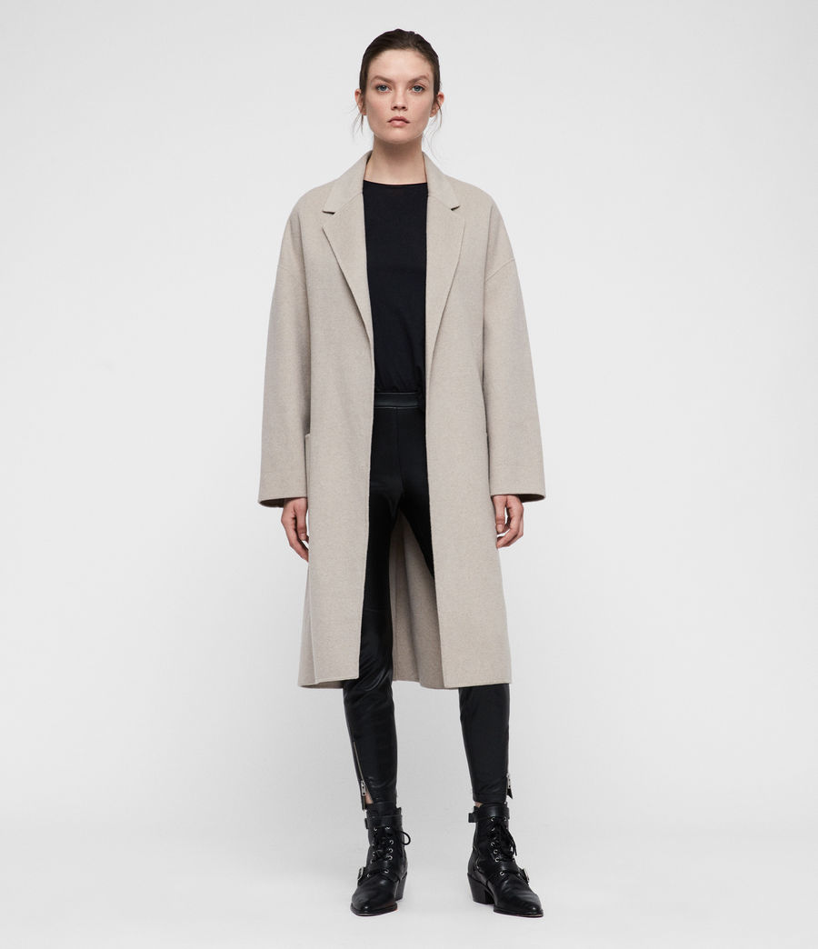 Women's Lara Coat (oatmeal_brown) - Image 3