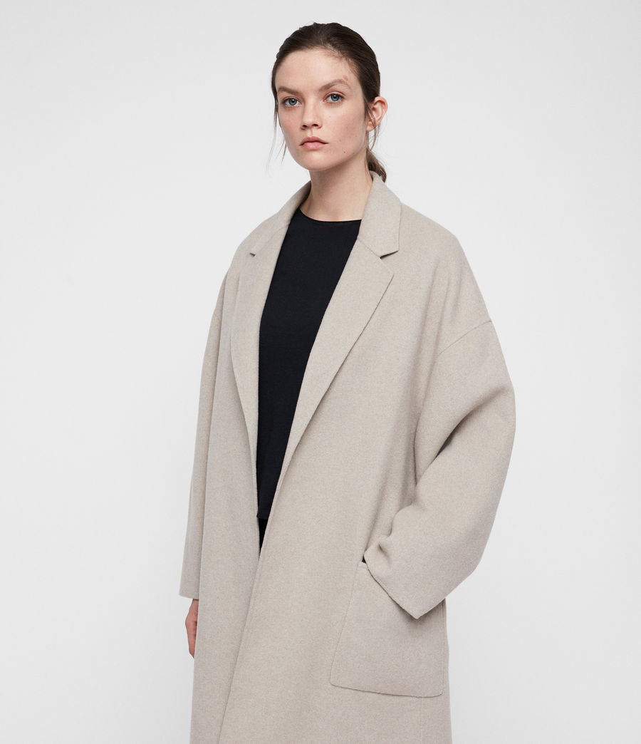 Women's Lara Coat (oatmeal_brown) - Image 4