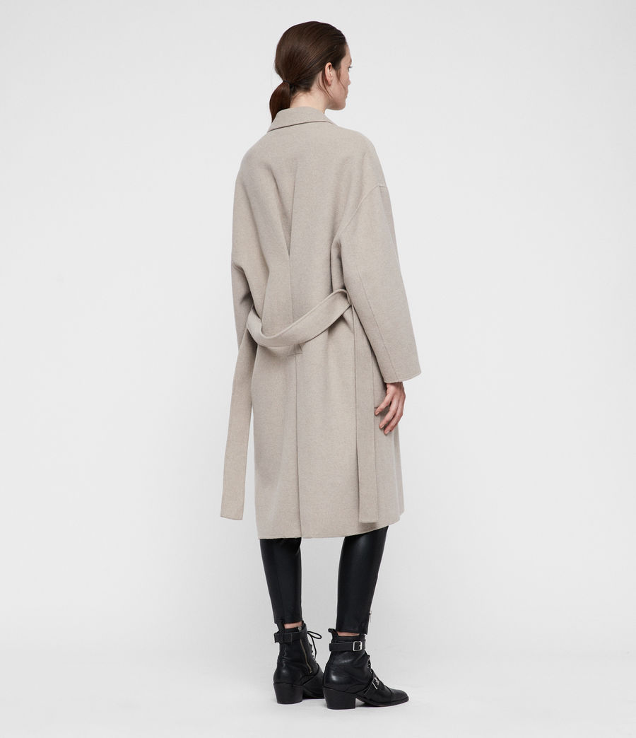 Women's Lara Coat (oatmeal_brown) - Image 6