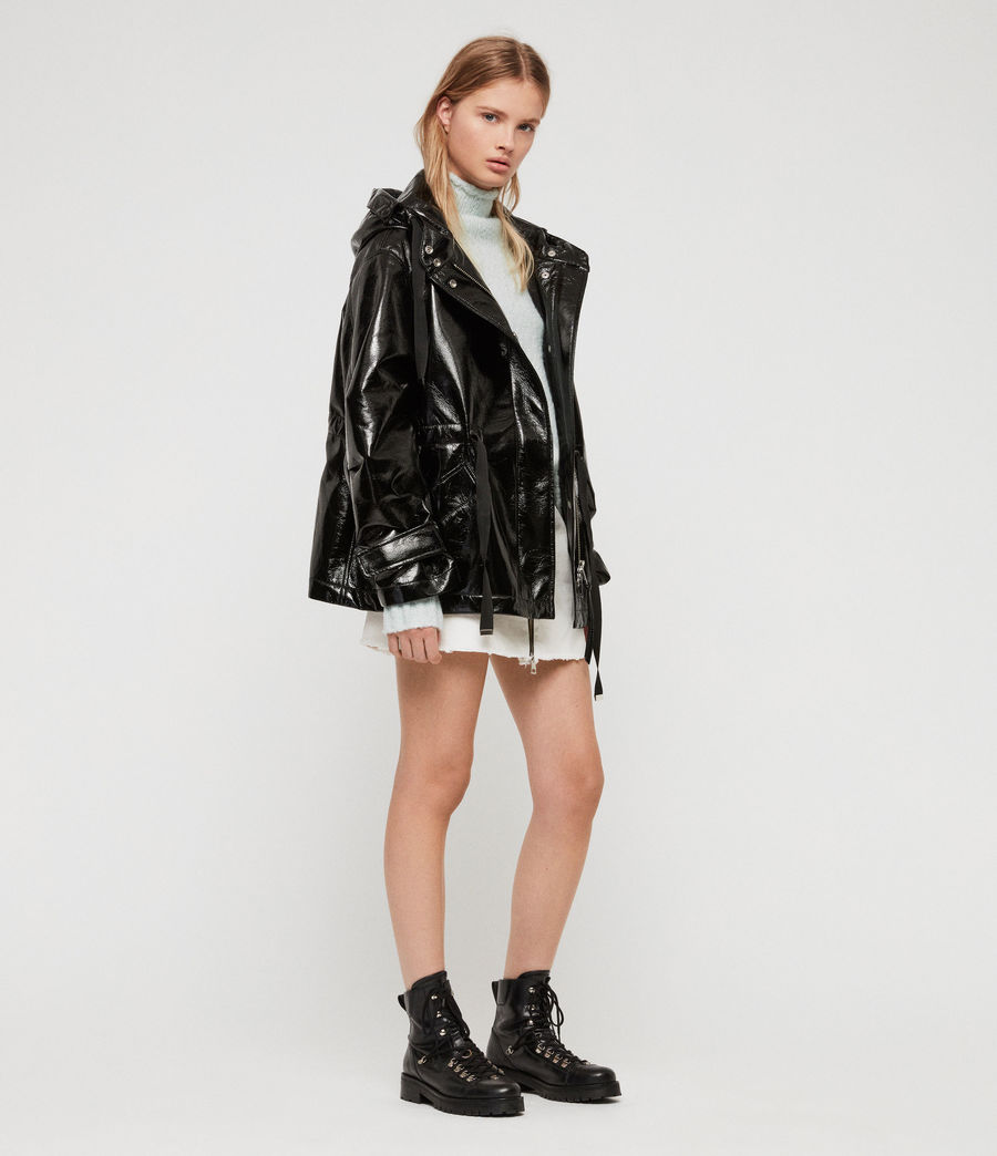 Women's Kelsie Nya Jacket (shiny_black) - Image 1