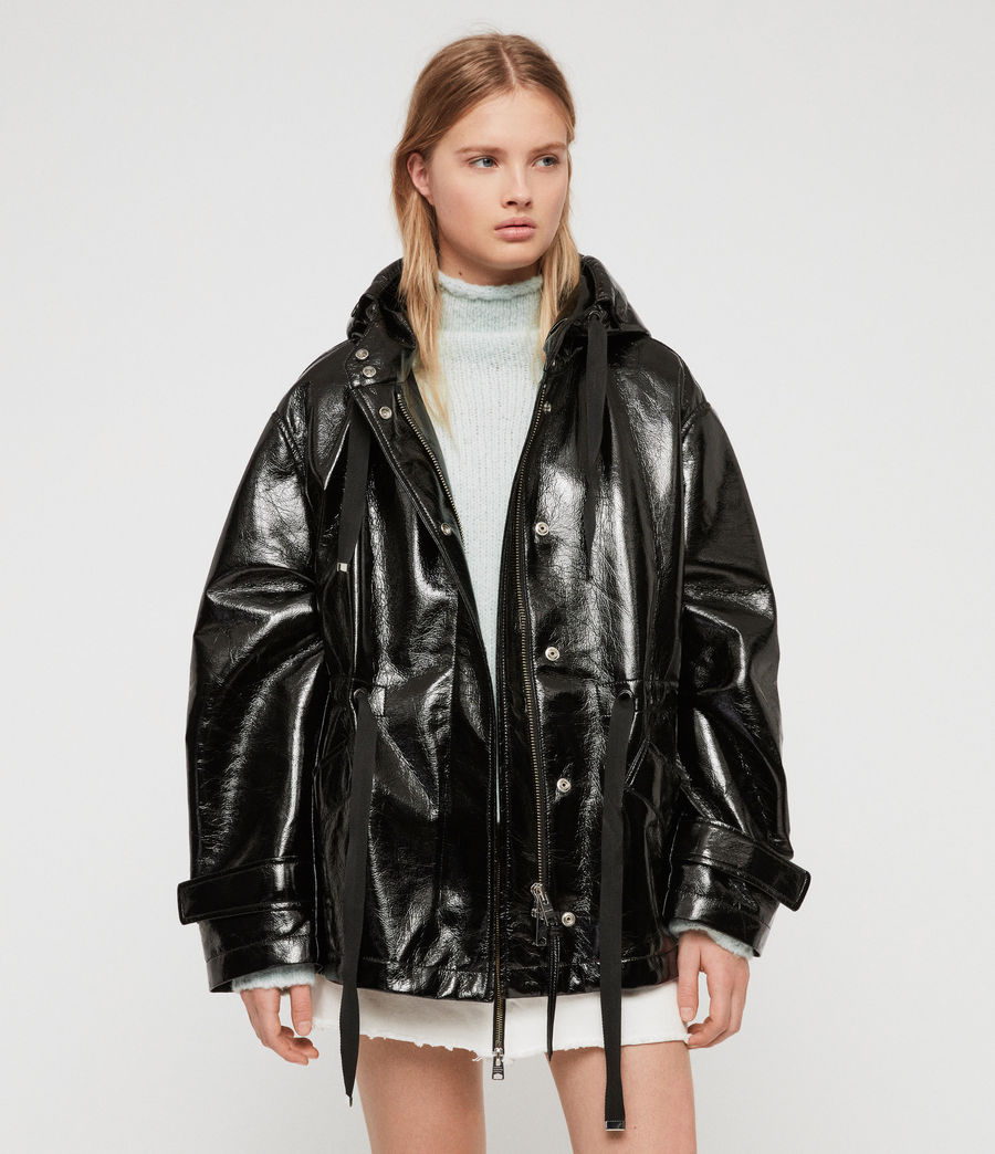 Womens Kelsie Nya Jacket (shiny_black) - Image 2