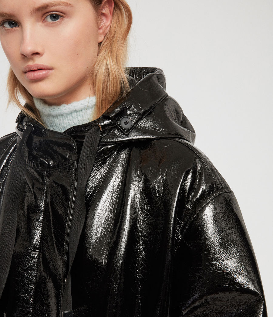 Women's Kelsie Nya Jacket (shiny_black) - Image 3