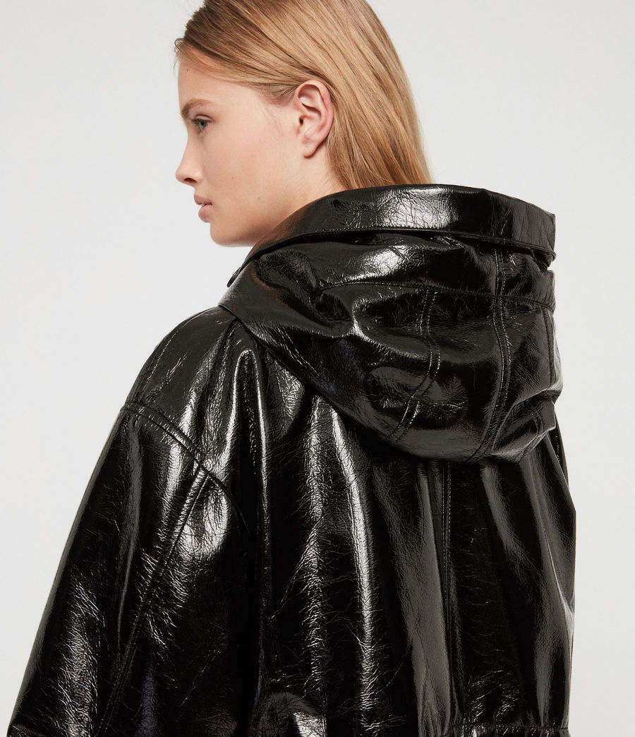 Women's Kelsie Nya Jacket (shiny_black) - Image 4