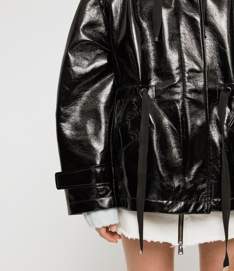 Women's Kelsie Nya Jacket (shiny_black) - Image 5