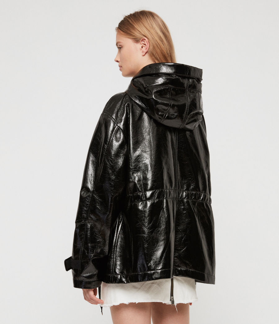 Women's Kelsie Nya Jacket (shiny_black) - Image 6