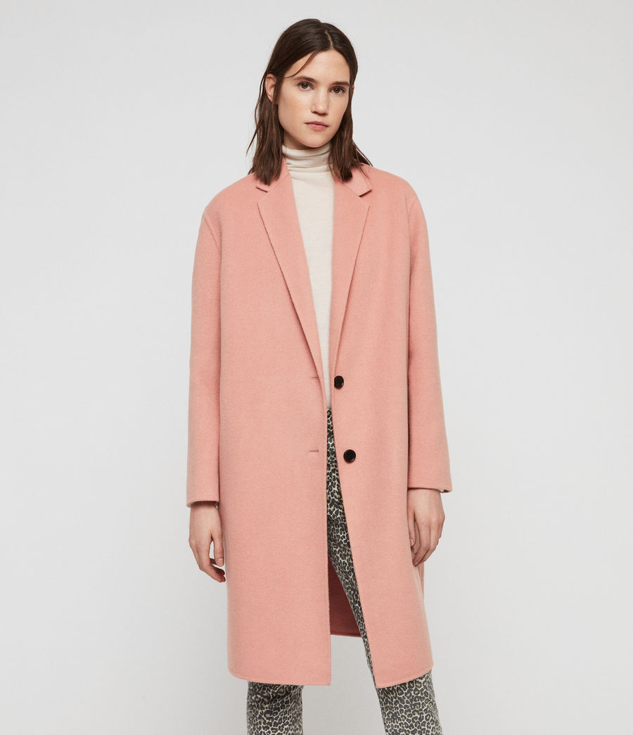 Womens Anya Coat (clay_pink) - Image 1