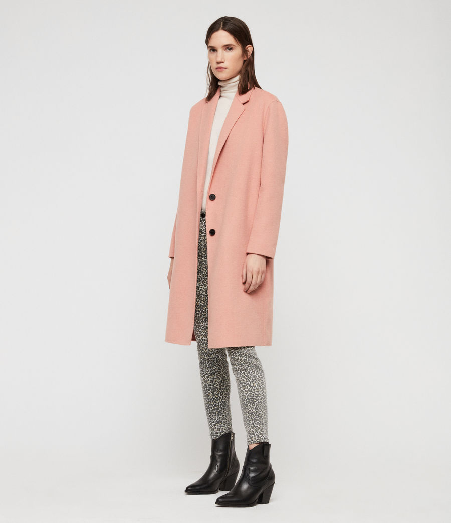 Womens Anya Coat (clay_pink) - Image 2