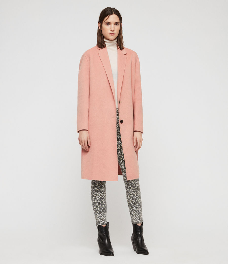 Women's Anya Coat (clay_pink) - Image 4