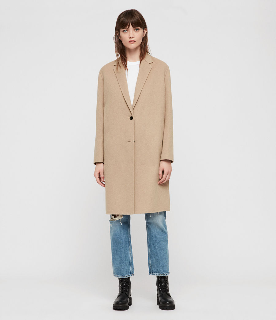 Women's Anya Coat (camel_brown) - Image 1