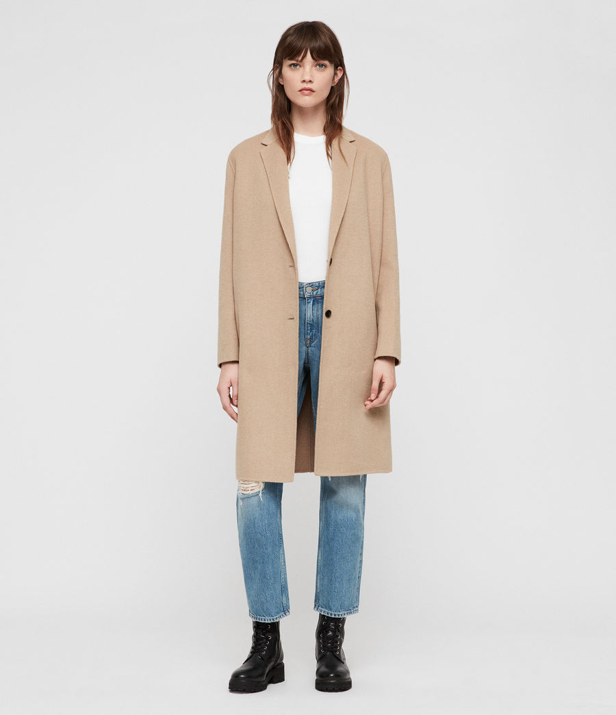 Women's Anya Coat (camel_brown) - Image 3