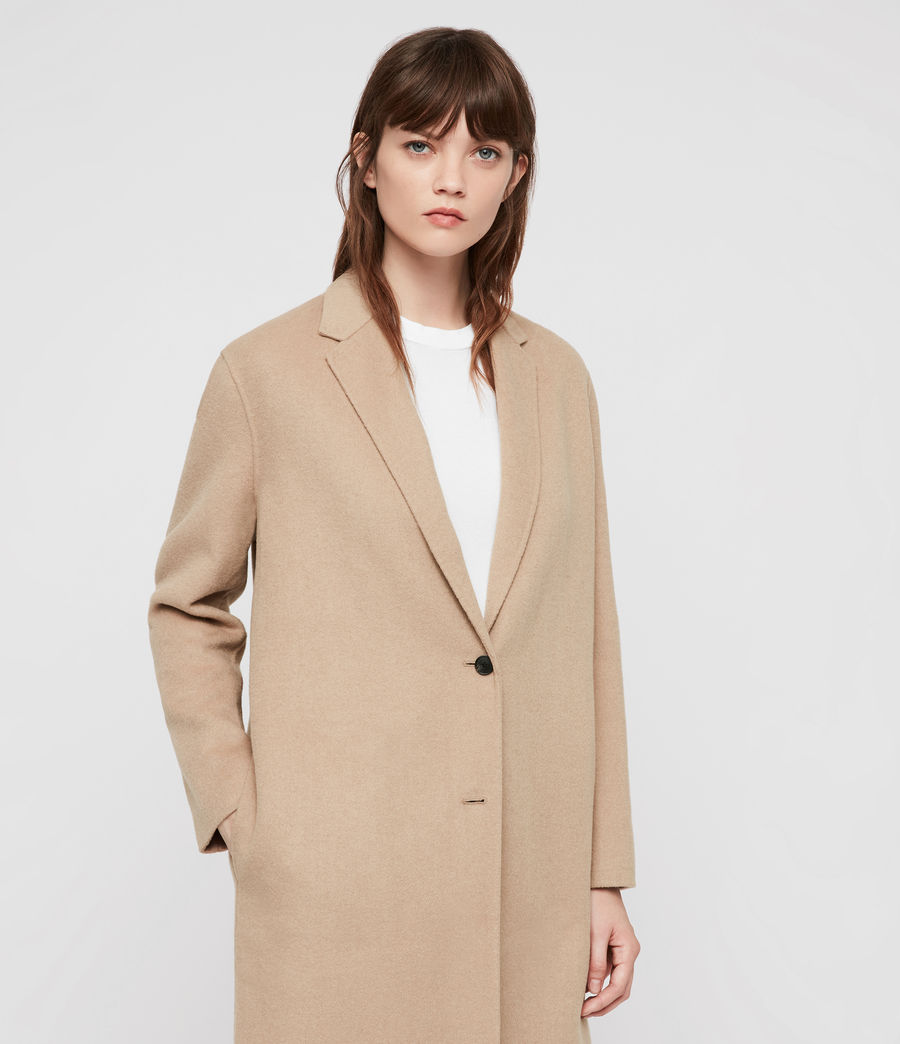 Women's Anya Coat (camel_brown) - Image 4