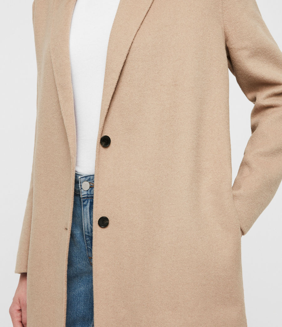Women's Anya Coat (camel_brown) - Image 5