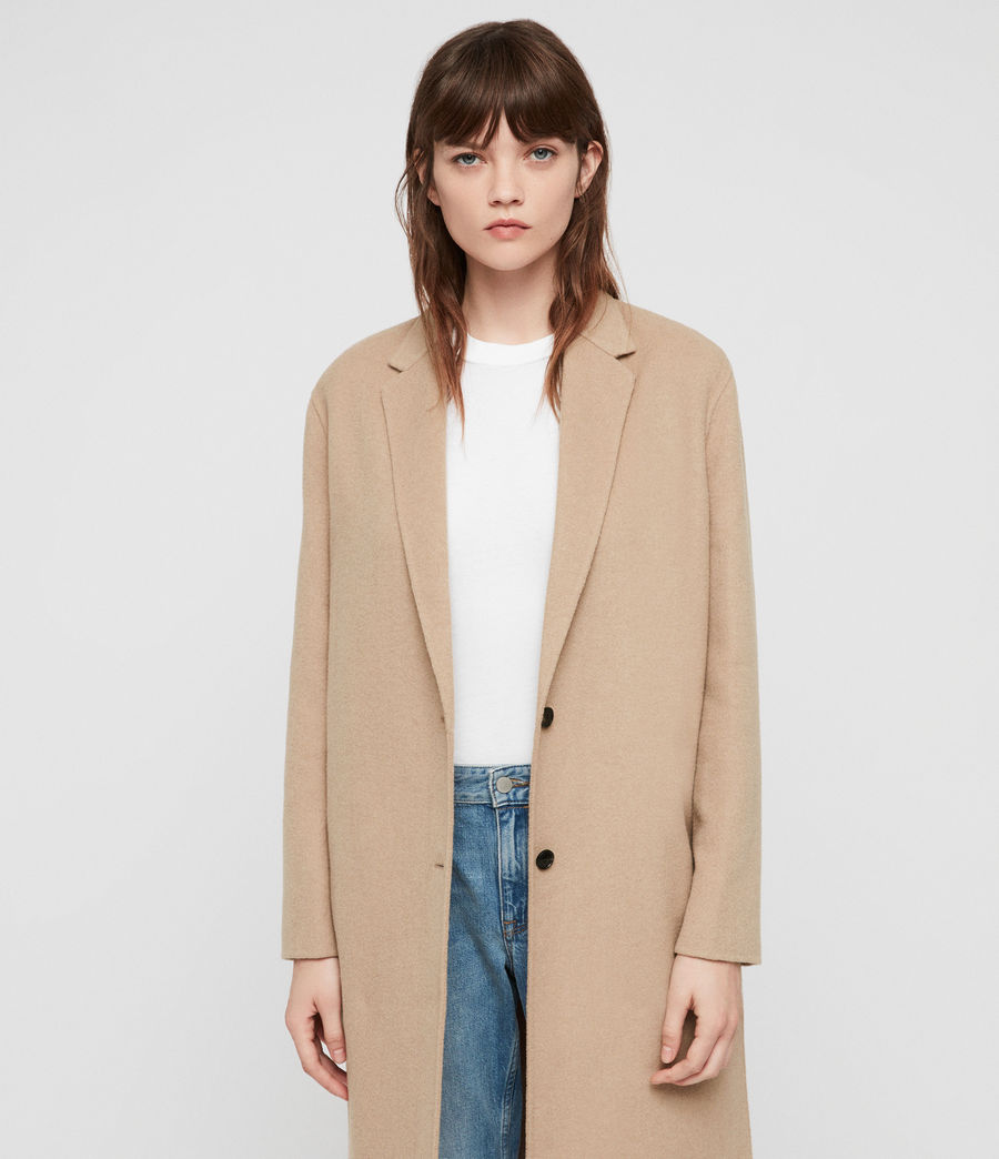 Women's Anya Coat (camel_brown) - Image 6