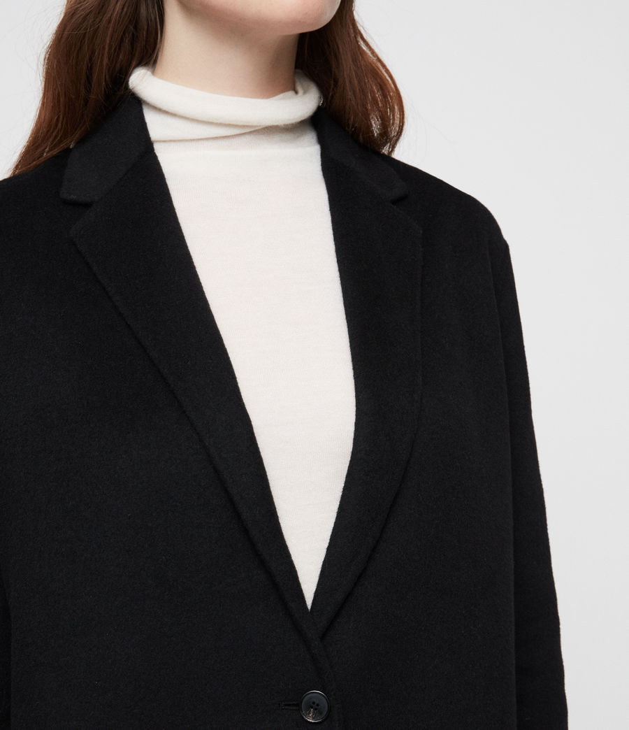 Womens Anya Coat (black) - Image 2