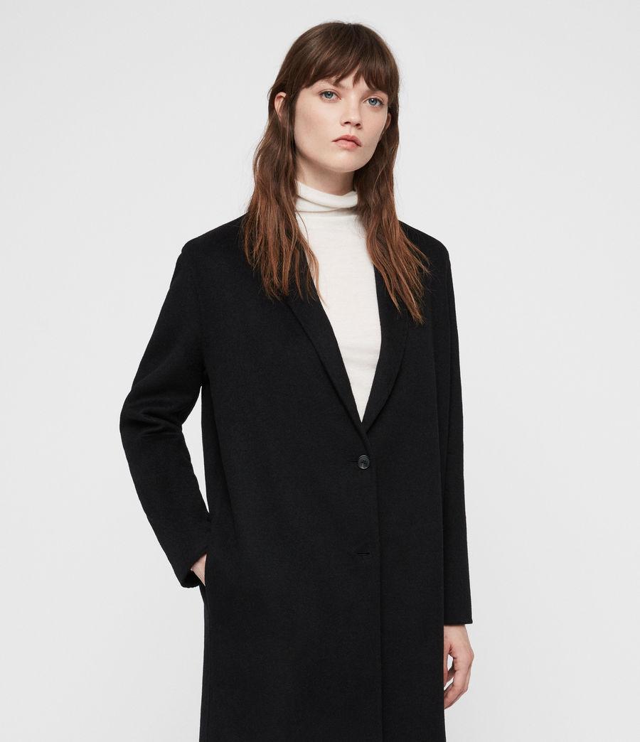 Womens Anya Coat (black) - Image 3