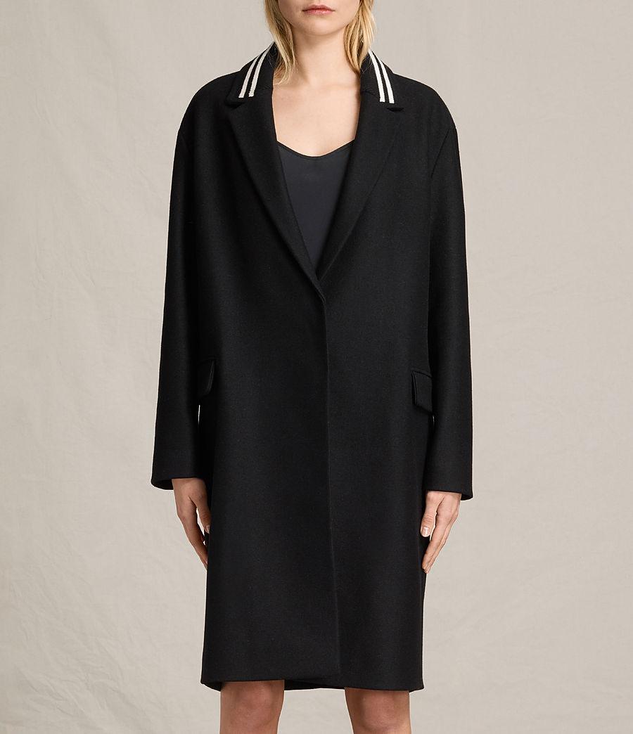 Women's Oren Rib Coat (black) - Image 1